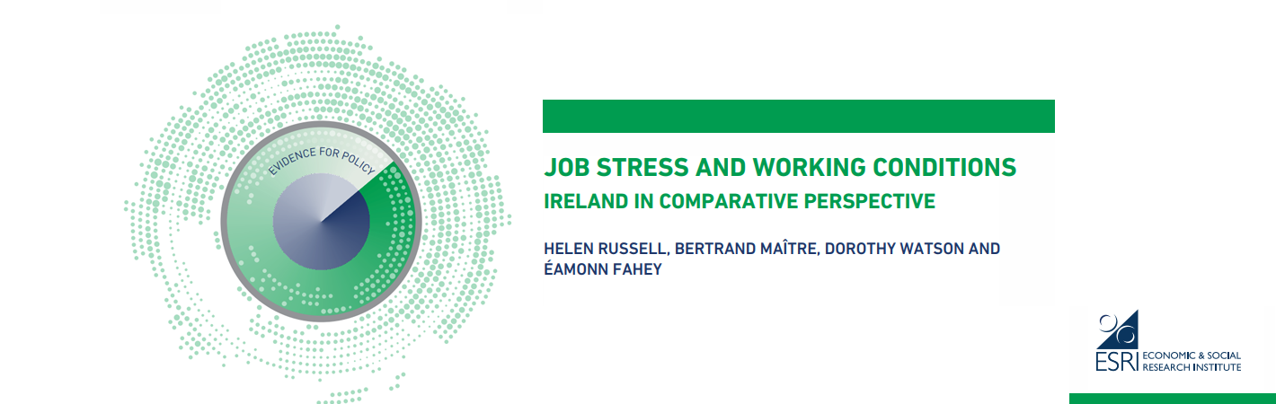 ESRI study shows levels of job stress in Ireland has doubled