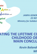 PRESENTATION: Estimating the lifetime cost of obesity: main conclusions